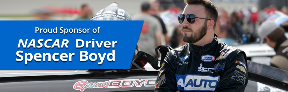 Proud Sponsors of NASCAR Driver Spencer Boyd