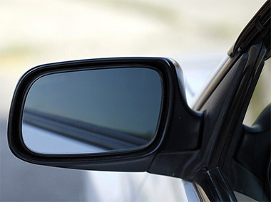 side view mirror, drivers side mirror