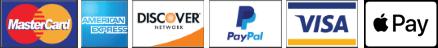 PayPal, American Express, MasterCard, Discover, Visa